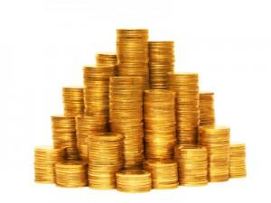 Coin pyramid.